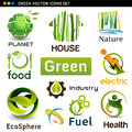 Vector eco icons set of design elements Royalty Free Stock Photo