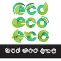Vector ECO logo green illustration elements