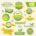 Vector Eco Stamps, Banners and Labels Royalty Free Stock Photography