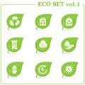 Vector ecology icon set. Vol. 1 Stock Images