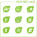 Vector ecology icon set. Vol. 2 Royalty Free Stock Photography
