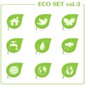 Vector ecology icon set. Vol. 3 Royalty Free Stock Image