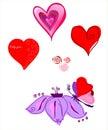 Vector eine Abbildung bis zum Day des Str.-Valentinsgrußes Lizenzfreies Stockbild