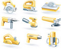 Vector electric tools icon set Stock Photography