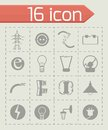 Vector Electricity icon set Royalty Free Stock Photo
