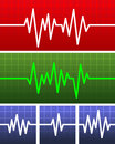 Vector electrocardiogram this is file of eps format Royalty Free Stock Image
