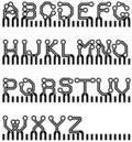Vector electronic alphabet Royalty Free Stock Photography