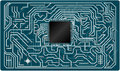 Vector electronic circuit board this is file of eps format Royalty Free Stock Photo