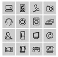 Vector electronics icon set this is file of eps format Stock Photography