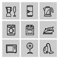 Vector electronics icon set this is file of eps format Royalty Free Stock Photography