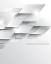 Vector elegant metallic overlapping geometric elements corporate business background Royalty Free Stock Photo
