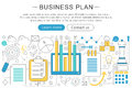 Vector elegant thin line flat modern Art design Business finance plan concept.