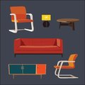Vector elements for interior design