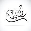 Vector of elephant head Royalty Free Stock Photo