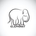 Vector of an elephant on white background.