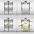 Vector elevator set.