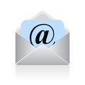 Vector email symbol over white Royalty Free Stock Images