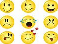 Vector emoticons Royalty Free Stock Images