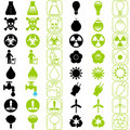 Vector Energy Saving Icons Stock Image