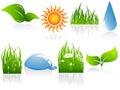 Vector environmental elements Royalty Free Stock Photo