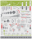 Vector environmental problems infographic elements set of the charts and design related to and ecology every country on the world Stock Image