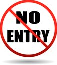 No entry restricted area sign Royalty Free Stock Photo
