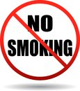 No smoking text sign