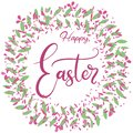 Vector EPS10 lettering illustration for happy easter