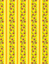 Vector Eps10 Yellow Wallpaper Pattern with Orange Royalty Free Stock Image