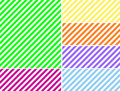 Vector EPS8 Diagonal Striped Background in Six Col Royalty Free Stock Photos