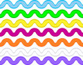 Vector Eps8 Ric Rac in 7 Colors Royalty Free Stock Image