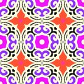 Vector ethnic pattern with moroccan motifs multicolor kazakh and turkish Royalty Free Stock Image