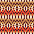 Vector ethnic pattern with zigzag lines in organic colors seamless texture for web print invitation card background textile summer Royalty Free Stock Photography