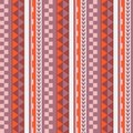 Vector ethnic seamless geometric simple pattern in maori tattoo style. Pink and orange.