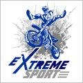 Vector eXtreme sport - moto emblem