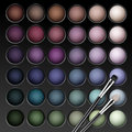 Vector Eye Shadows Palette with Makeup Brush Royalty Free Stock Photo