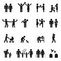 Vector family icons Royalty Free Stock Photo