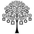 Vector family tree. Template. Royalty Free Stock Photo