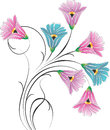 Vector fancy flower bunch Stock Images