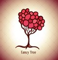 Vector fancy tree background Royalty Free Stock Photography