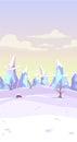 Vector fantasy winter landscape