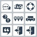 Vector faq info icons set Royalty Free Stock Photos
