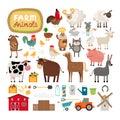 Vector farm animals Royalty Free Stock Photo