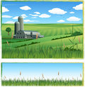 Vector farm landscape Royalty Free Stock Images