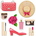 Vector Fashion Accessories Set 4