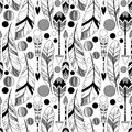 Vector Feather and Arrow Background Pattern - Seamless and Tileable Royalty Free Stock Photo
