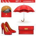 Vector female accessories set on white background Royalty Free Stock Image