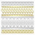 Vector fence damask abstract artistic pattern