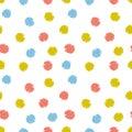 Vector festive confetti background. Hand drawn kids design for fabric, wallpaper or wrap paper.