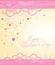 Vector festive decoration cards for valentines day pink color Royalty Free Stock Image